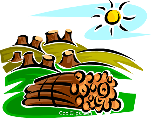 Forestry and Logging Royalty Free Vector Clip Art illustration vc062667