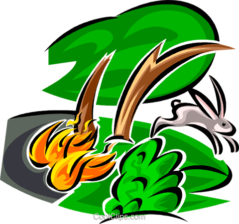 Forest Fires Royalty Free Vector Clip Art illustration vc062668