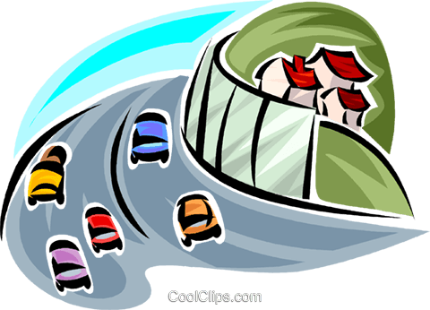Infrastructure Roads and Highways Royalty Free Vector Clip Art illustration vc062678