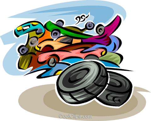 Wheels and Tires Royalty Free Vector Clip Art illustration vc062681