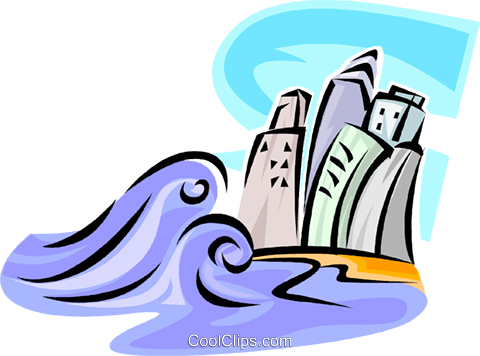 Tidal Waves Royalty Free Vector Clip Art illustration vc062689