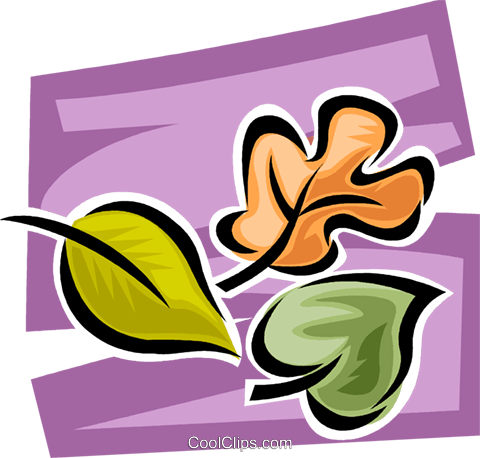 Leaves Royalty Free Vector Clip Art illustration vc062700
