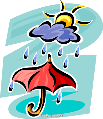 Rain Royalty Free Vector Clip Art illustration vc062707
