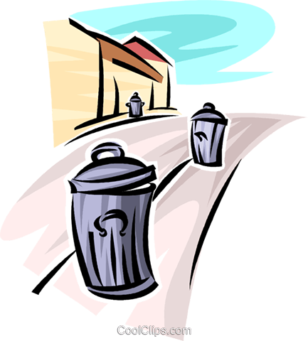 Garbage Waste Trash Royalty Free Vector Clip Art illustration vc062718