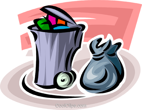 Garbage Waste Trash Royalty Free Vector Clip Art illustration vc062719