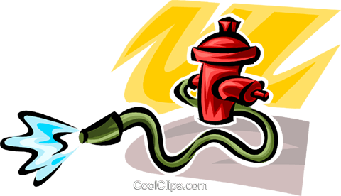 Fire Hydrants Royalty Free Vector Clip Art illustration vc062721