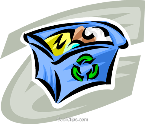 Blue Boxes or Recycle Box Royalty Free Vector Clip Art illustration vc062722