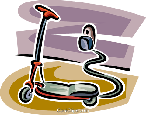 Scooters Royalty Free Vector Clip Art illustration vc062725