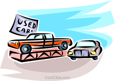 Auto Sales Royalty Free Vector Clip Art illustration vc062735