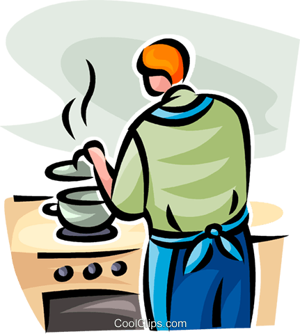 woman cooking Royalty Free Vector Clip Art illustration vc062763