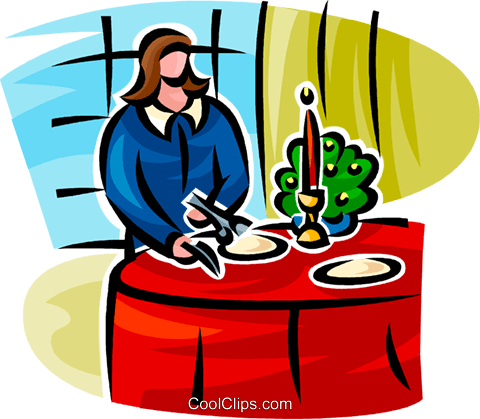 woman setting the table Royalty Free Vector Clip Art illustration vc062786