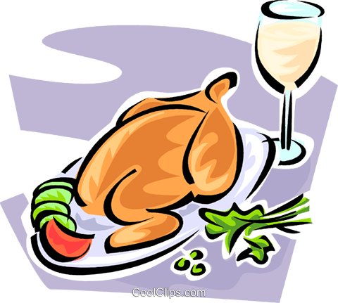 roast poultry Royalty Free Vector Clip Art illustration vc062829
