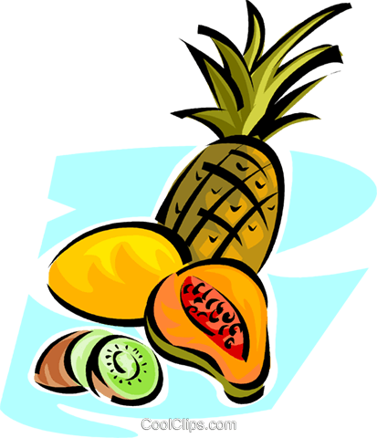 different fruit Royalty Free Vector Clip Art illustration vc062831