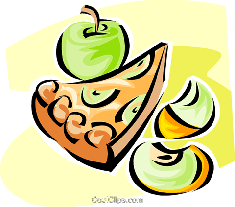 apple pie Royalty Free Vector Clip Art illustration vc062839