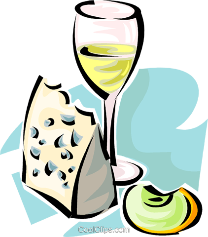 wine and cheese Royalty Free Vector Clip Art illustration vc062842