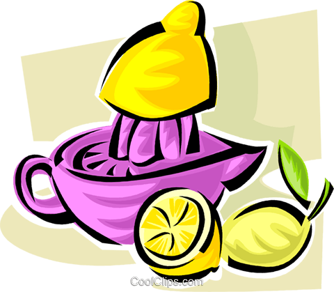 freshly squeezed lemonade Royalty Free Vector Clip Art illustration vc062845