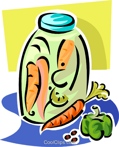 vegetables in a jar Royalty Free Vector Clip Art illustration vc062876