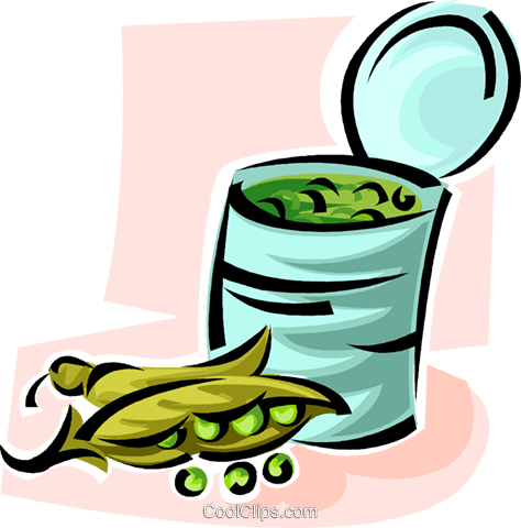 can of peas Royalty Free Vector Clip Art illustration vc062888