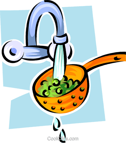 lettuce in a strainer Royalty Free Vector Clip Art illustration vc062890