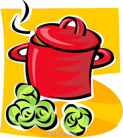 cooking pot Royalty Free Vector Clip Art illustration vc062893