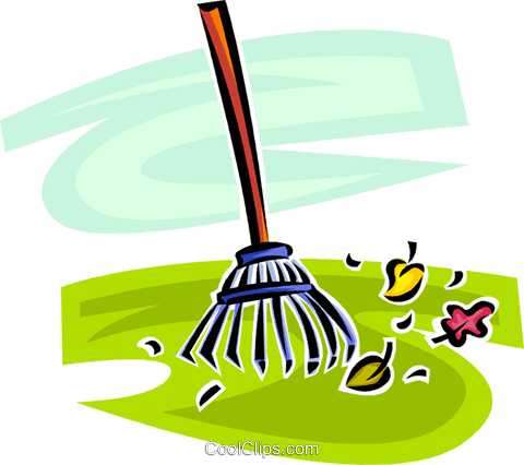 garden rake Royalty Free Vector Clip Art illustration vc062909