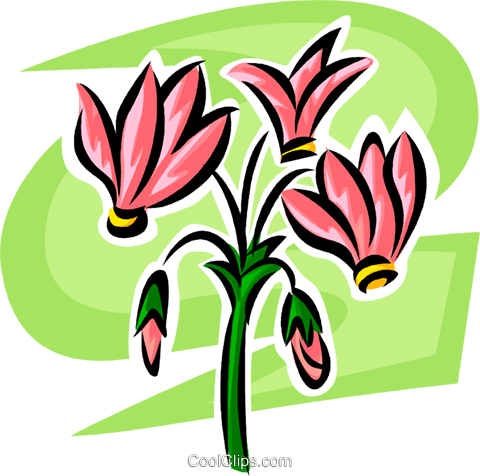 flower Royalty Free Vector Clip Art illustration vc062949