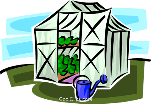 greenhouse Royalty Free Vector Clip Art illustration vc062957