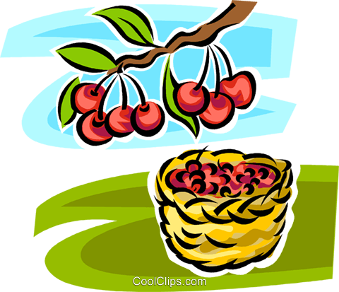 apple trees Royalty Free Vector Clip Art illustration vc062963