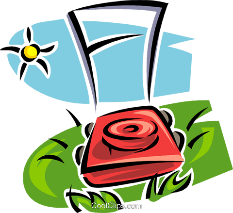 lawnmower Royalty Free Vector Clip Art illustration vc062988