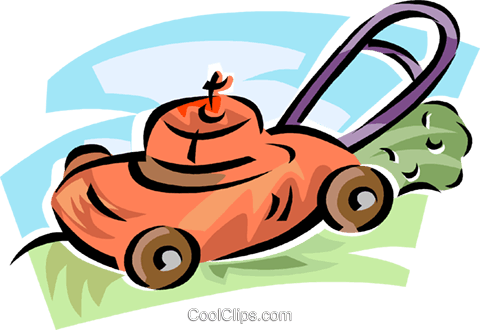 lawnmower Royalty Free Vector Clip Art illustration vc063002
