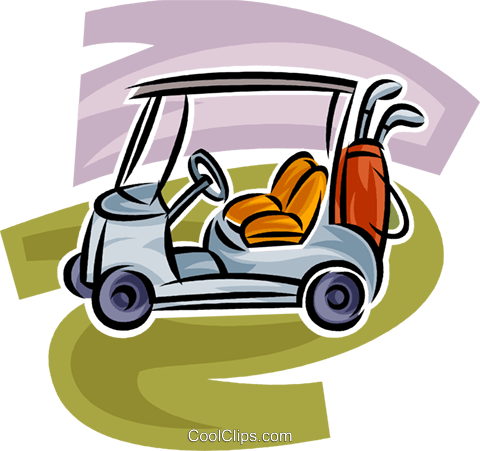 Electric golf cart Royalty Free Vector Clip Art illustration vc063017