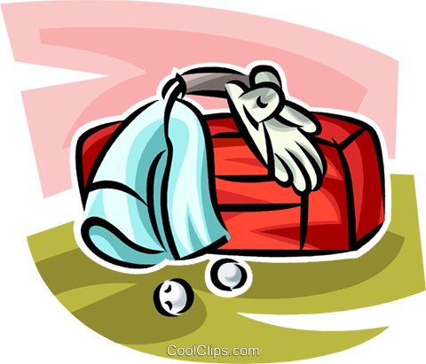 golf equipment Royalty Free Vector Clip Art illustration vc063028