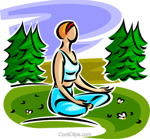 woman doing yoga Royalty Free Vector Clip Art illustration vc063048