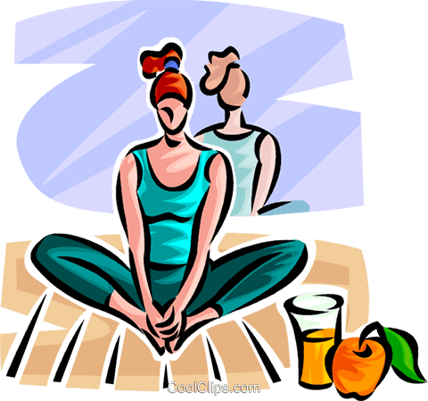 woman doing yoga Royalty Free Vector Clip Art illustration vc063050