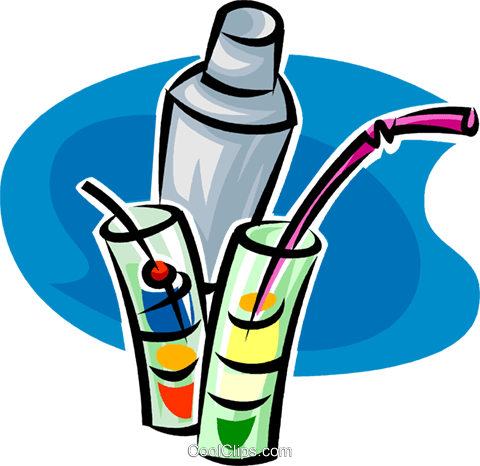 special health drinks with a straw royalty free vector