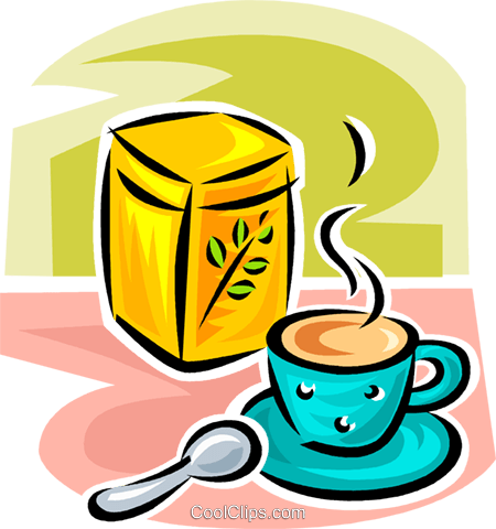 cup of herbal teas Royalty Free Vector Clip Art illustration vc063056