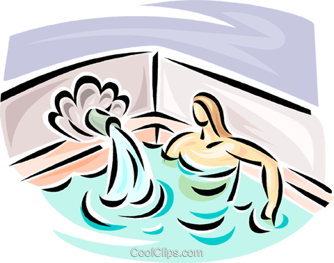 woman sitting in a whirlpool Royalty Free Vector Clip Art illustration vc063061