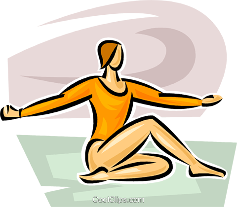 woman doing yoga Royalty Free Vector Clip Art illustration vc063070