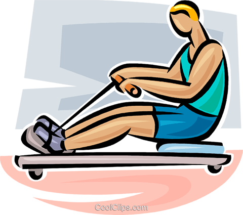 rowing machine Royalty Free Vector Clip Art illustration vc063078