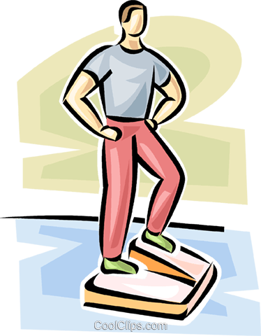 man working on a Stairmaster Royalty Free Vector Clip Art illustration vc063081
