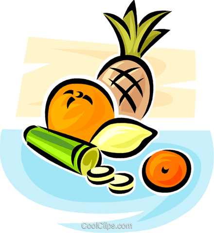 fruits and vegetables Royalty Free Vector Clip Art illustration vc063090