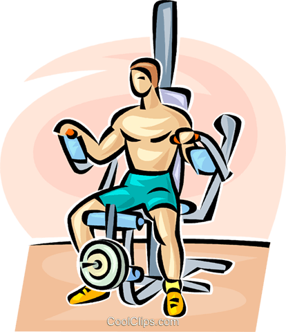Man working out Royalty Free Vector Clip Art illustration vc063098