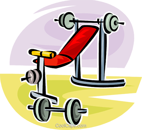 weight lifting set Royalty Free Vector Clip Art illustration vc063100