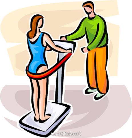 Woman on an exercising machine Royalty Free Vector Clip Art illustration vc063106