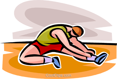 man stretching Royalty Free Vector Clip Art illustration vc063108