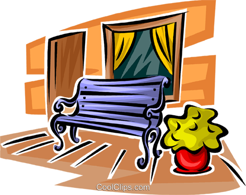 bench Royalty Free Vector Clip Art illustration vc063120