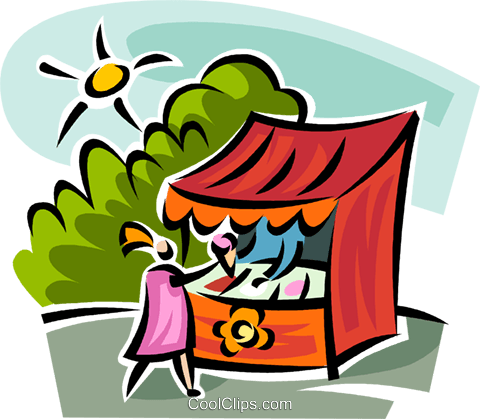 ice cream vendor Royalty Free Vector Clip Art illustration vc063123