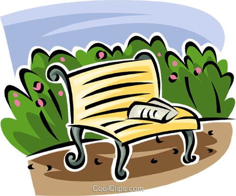 park bench Royalty Free Vector Clip Art illustration vc063141