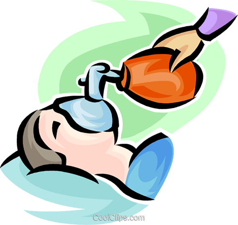 person getting help to breathe Royalty Free Vector Clip Art illustration vc063191