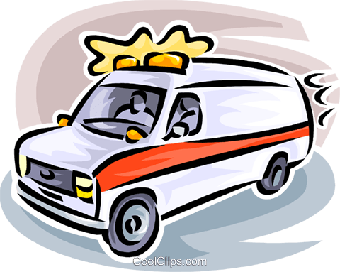 ambulance Royalty Free Vector Clip Art illustration vc063197